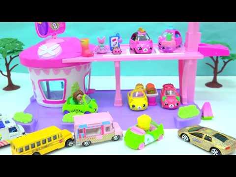 Cutie Cars Drive Thru Diner + Limited Edition Car + Shopkins Surprise Blind Bags