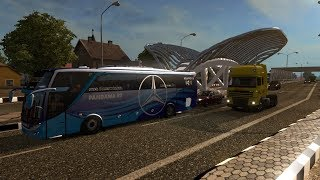 PANDAWA 87 IN ACTION!! | ets2 bus mod Indonesia