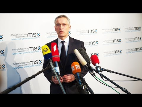 NATO Secretary General doorstep at the Munich Security Conference, 16 FEB 2018