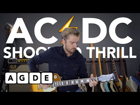 AC/DC Shoot To Thrill Guitar Lesson Tutorial - All Parts Chords & SOLO