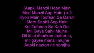 Aapki Nazaron Ne Samjha Karaoke MP3 with Lyrics