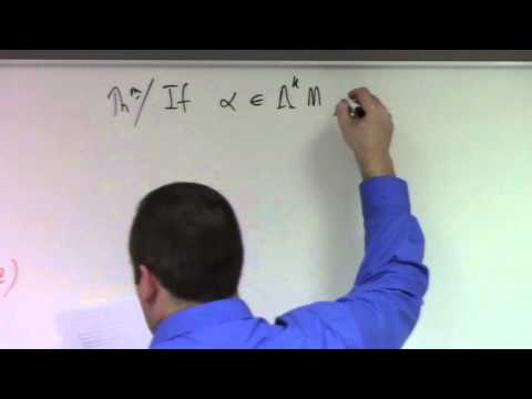 Advanced Calculus: Lecture 20 Part 1: exterior derivatives and pull-backs