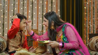 Happy brother sister celebrating Raksha Bandhan / Bhai Dooj festival