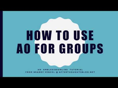 How to use AO for Groups Tutorial