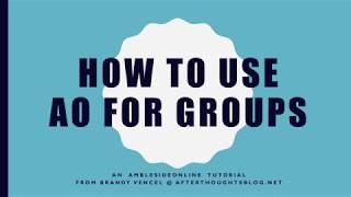 كيفية استخدام آو للمجموعات التعليمي