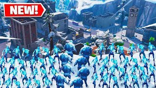 100 FORTNITE ICE ZOMBIES vs TILTED TOWERS!