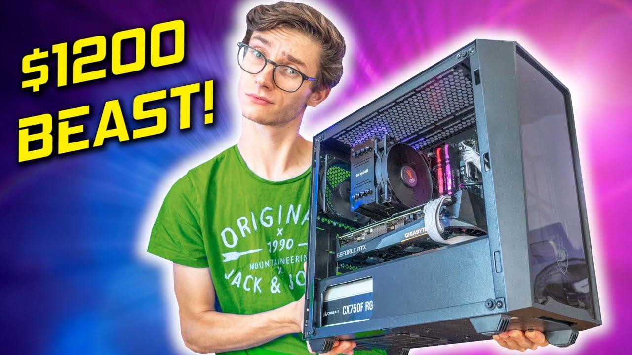 My BARBARIAN $1200 Gaming PC Build 2021! 🤩 - RTX 3060 Ti, i5 11600, 1440p Gameplay Benchmarks | AD