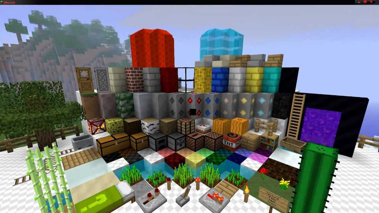 1080p Texture Packs - Simple Pack 16x16 - YouTube