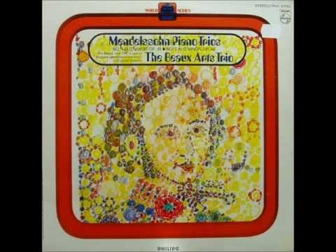 Mendelssohn: Piano Trio in D minor op. 49 (Trio Beaux Arts - 1968 vinyl LP)