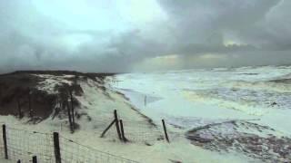 tempête du 11janvier 2016, Brétignolles sur mer, plage des Dunes