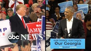 Trump and Obama make final push before midterm elections