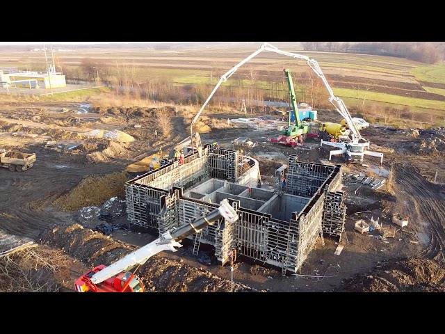 Kolejny etap szalowania ścian magazynu materiałów wybuchowych - KWK Budryk w Chudowie | ABC Szalunki