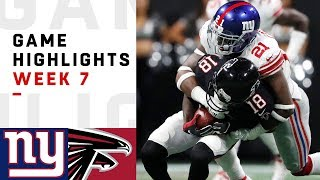 Giants vs. Falcons Week 7 Highlights | NFL 2018