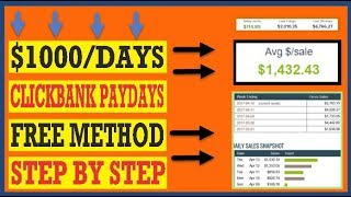 🔥 How To Make Money On Clickbank For Free 2020 ($500 Days W/Free Traffic) 🔥