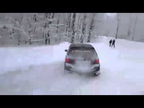 Honda fit snow drift georgia 1 youtube for Honda fit in snow