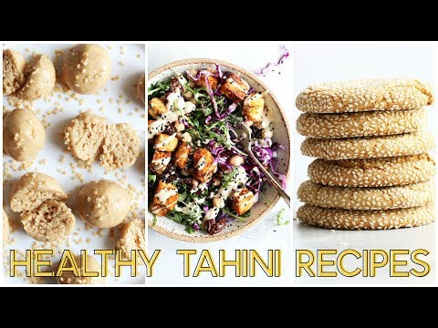 THREE TAHINI RECIPES || gluten free + dairy free