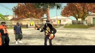 skin Slash + mod tocar el bajo/guitarra gta sa