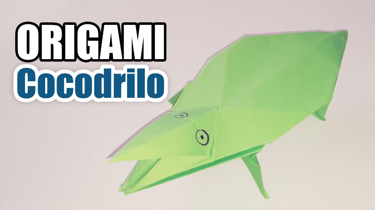 Como hacer un Cocodrilo de papel - ANIMALES DE PAPEL - origami ...