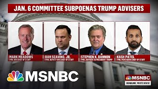 The January 6th Committee Drops The Hammer On Trump Aides And Allies