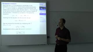 Multiple View Geometry - Lecture 8 (Prof. Daniel Cremers)