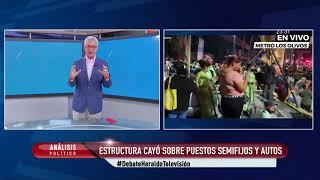 #ÚLTIMAHORA | Accidente: Cae tramo de la Línea 12 del Metro CDMX