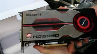 Radeon HD 5850 1GB ATI Video Card Gigabyte Unboxing Linus Tech Tips