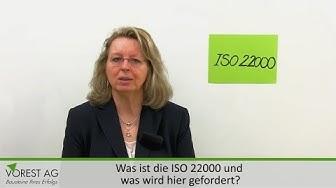Was fordert die DIN ISO 22000 für die Lebensmittelsicherheit?