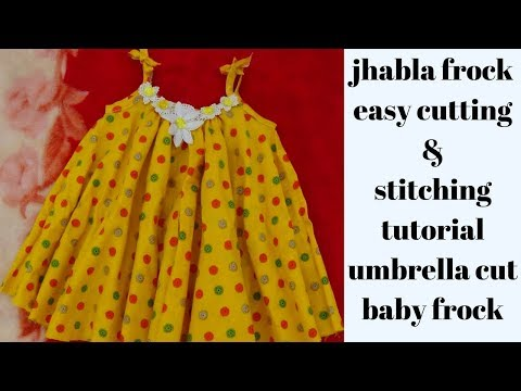 Simple Baby Frock Cutting And Stitching In 10 Minutes, Baby Jhabla DIY| How To Make Baby  Frock