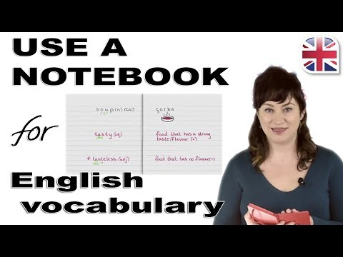 Learn English Vocabulary - How To Use A Notebook To Expand Your English Vocabulary