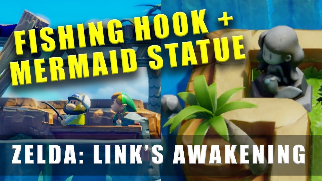 The Legend Of Zelda Link S Awakening Switch Fishing Hook Mermaid Statue Necklace
