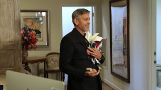 George Clooney and Ellen Make a Surprise Visit to His Old Office