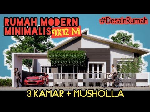 desain-rumah-modern-minimalis-9x12-m,-3-kamar-tidur-+-musholla