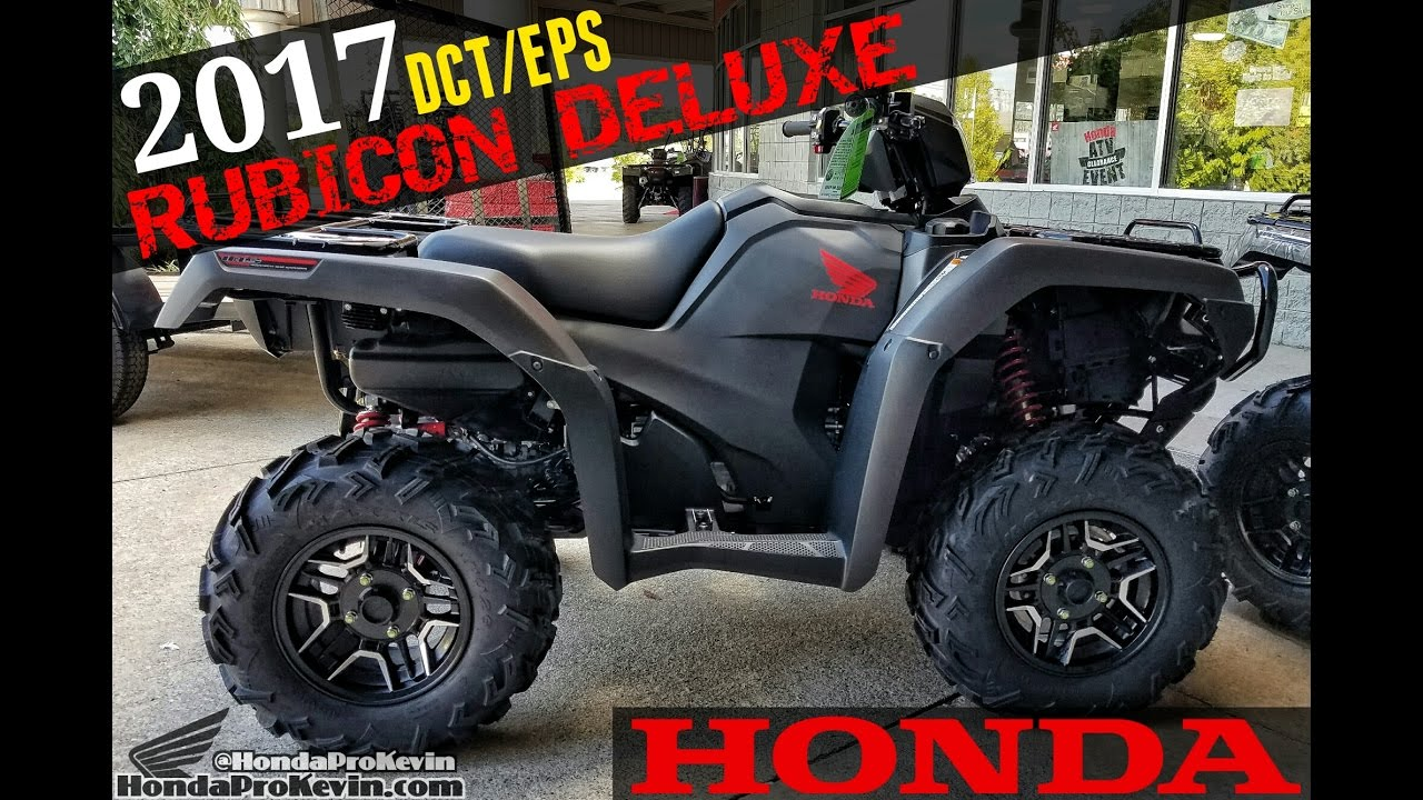 2018 honda rubicon. exellent rubicon 2017 honda foreman rubicon deluxe 500 dct  eps atv  walkaround video  matte gray trx500fa7h  youtube throughout 2018 honda rubicon f