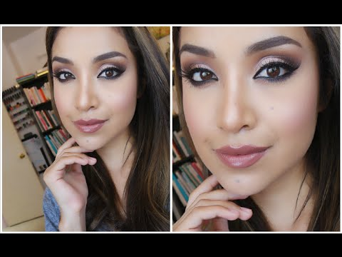 How to: Soft Brown Smoky Eyes with Liner (Full Face Glam) | Dulce Candy
