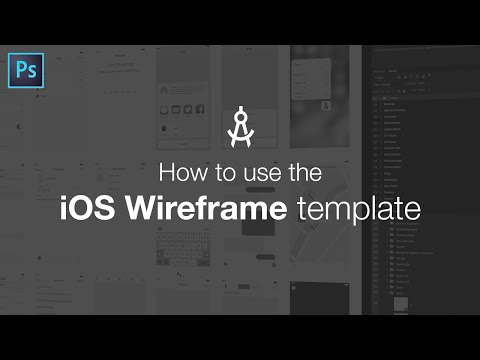 How to use the iOS Wireframe template