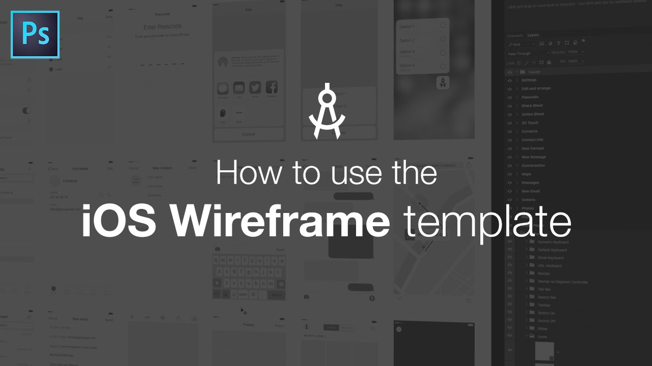 how to use the ios wireframe template youtube. Black Bedroom Furniture Sets. Home Design Ideas