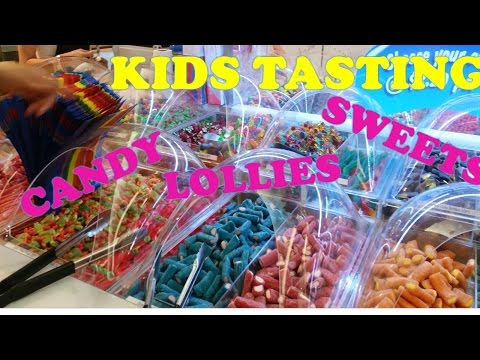 Candy, Lollies, Sweets and Chocolates Kids Tasting