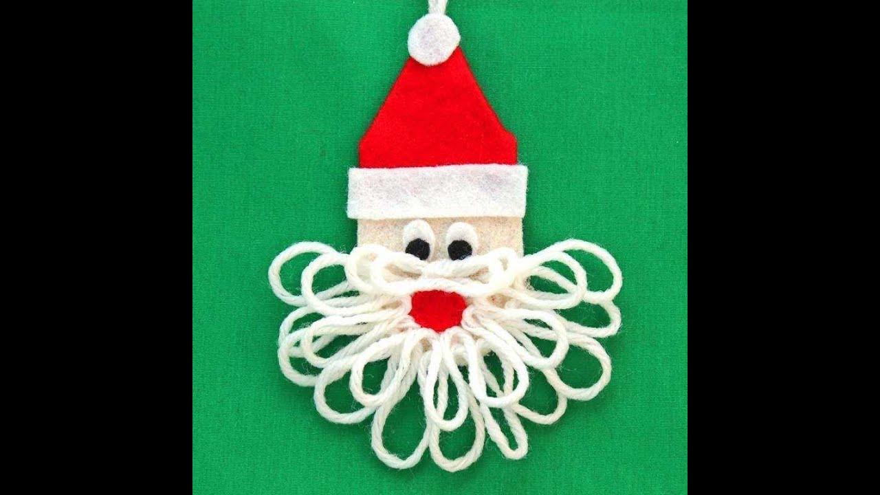 santa claus kids christmas craft with recycling art - Santa Claus Craft