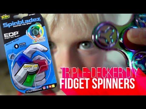 FIDGET SPINNER TRIPLE DECKER   Zing Toys Spinbladez