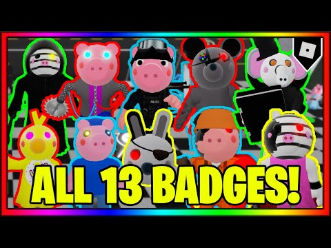 How to get ALL 13 BADGES in PIGGY BOOK 2 ROLEPLAY || Roblox