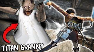 I found TITAN GRANNY in ATTACK ON TITAN... (Granny Mobile Horror Game vs Attack on Titan)