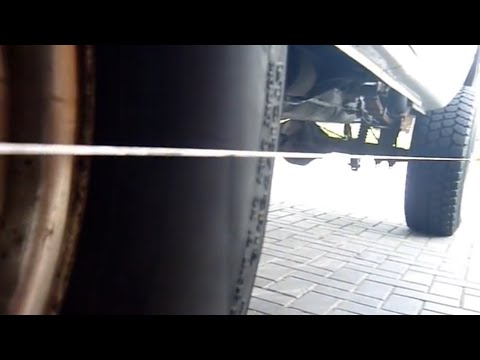 HOW TO DO ALIGNMENT QUICK+EASY AT HOME FOR CARS+TRUCKS | DODGE RAM ALIGN TOE TRACKING PREALIGNMENT