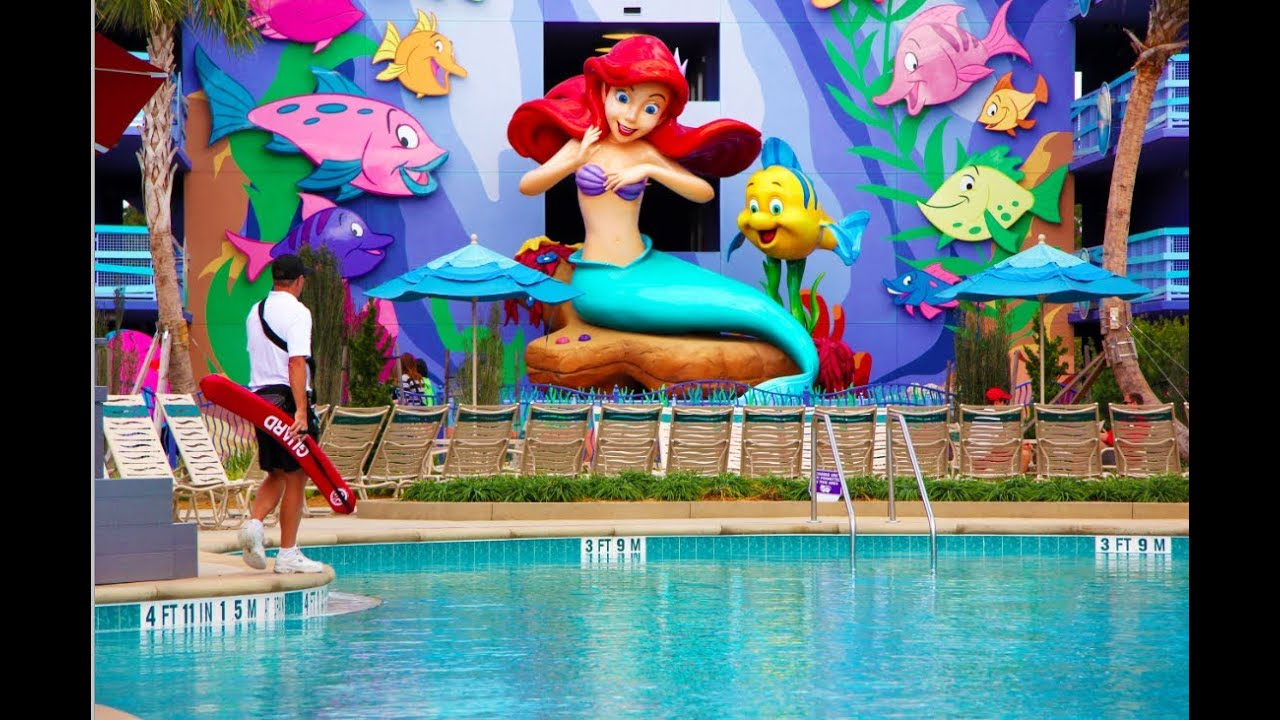 Little Mermaid Section Flipin Fins Pool Art Of