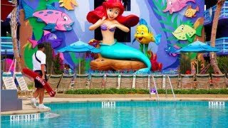 little mermaid section flipin fins pool art of animation resort walt disney world fl