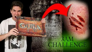 BREAKING ALL THE RULES OF THE OUIJA BOARD IN A CEMETERY // 3AM CHALLENGE OUIJA BOARD GONE WRONG!