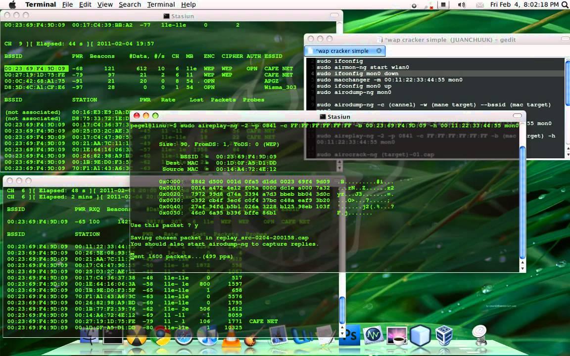 How to hack Wireless password with Ubuntu 10 10 Maverick