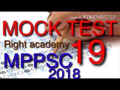 MOCK TEST 19 MPPSC 2018(Right Academy)