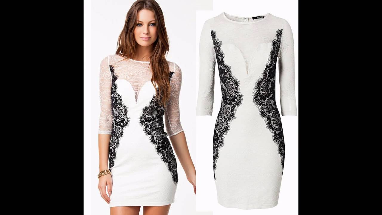 Vestidos blancos elegantes ala rodilla
