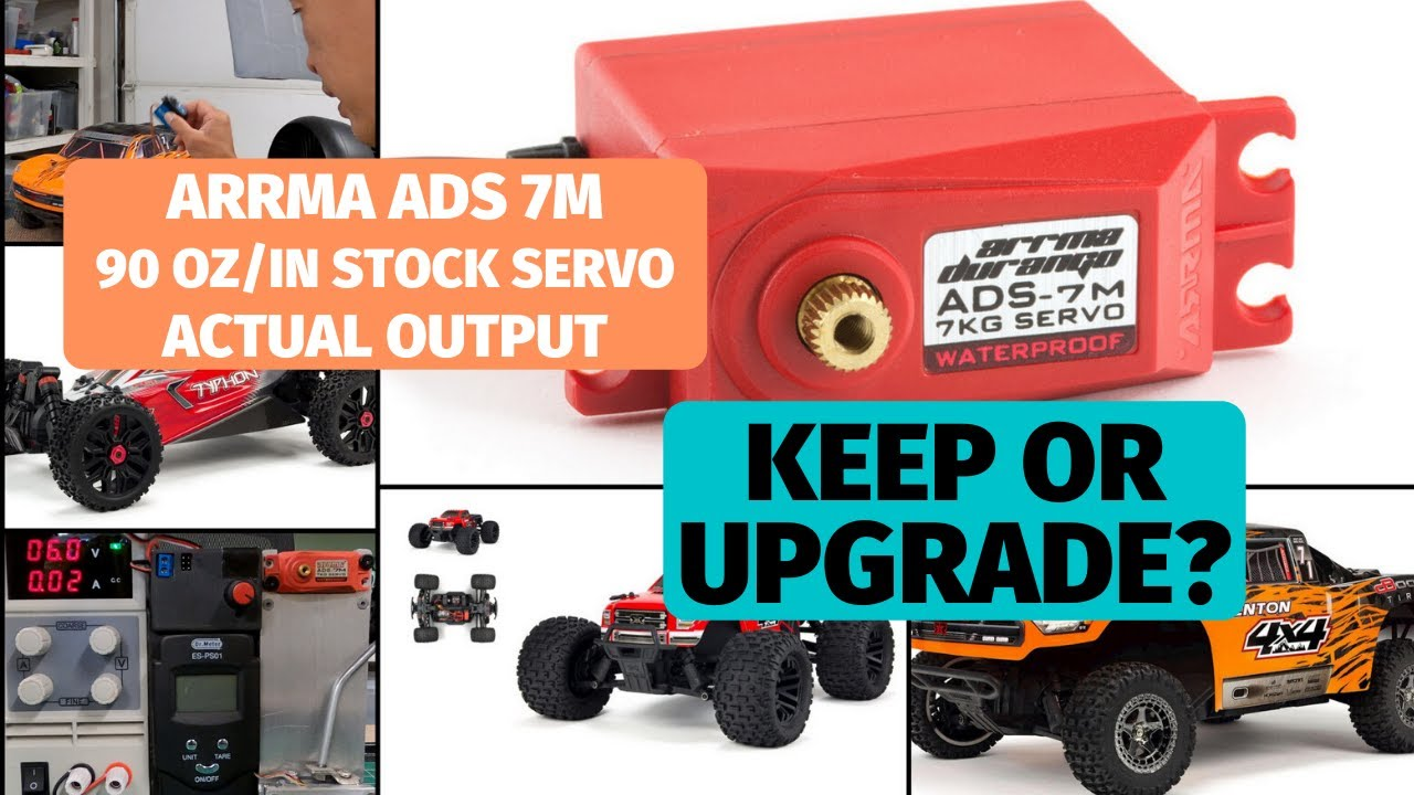 Arrma ADS-7M servo test - Stock servo a keeper or junker?