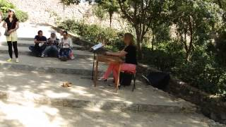 I believe in Angels (ABBA), on cimbalom. Park Guel. Barcelona